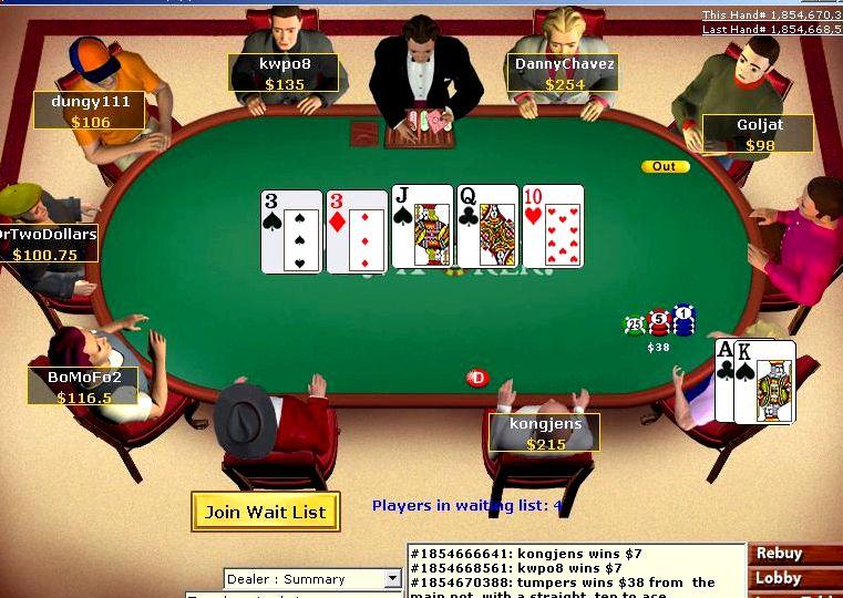 Бесплатный покер онлайн