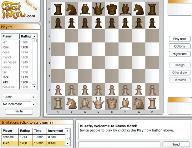 Играть в шахматы с живыми