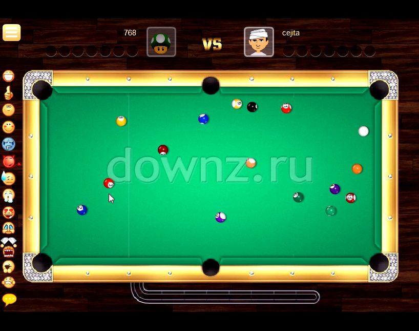 Бильярд онлайн играть бесплатно 8
