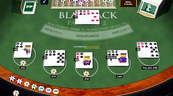 Блэкджек онлайн играть на деньги