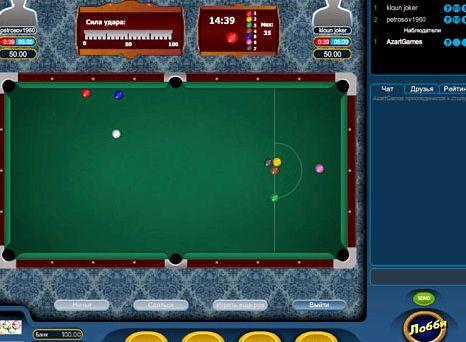 Русский бильярд на двоих играть онлайн